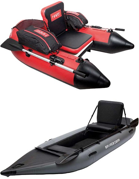 Kayaks, Patos e Pontoons