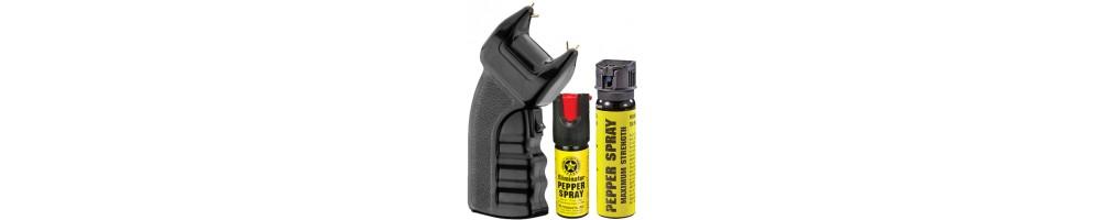 Armas Elétricas e Spray de Defesa - Gaz pimenta   etc